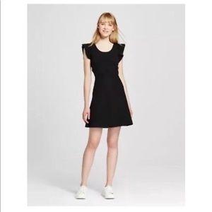 Victoria Beckham (Target) Blk Ruffle Sleeve Dress